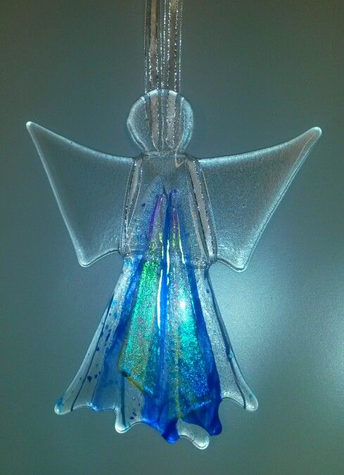 October 12th: fused glass angel More