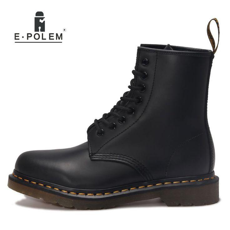 Blck Round Toe Zipper PU bottes pour hommes