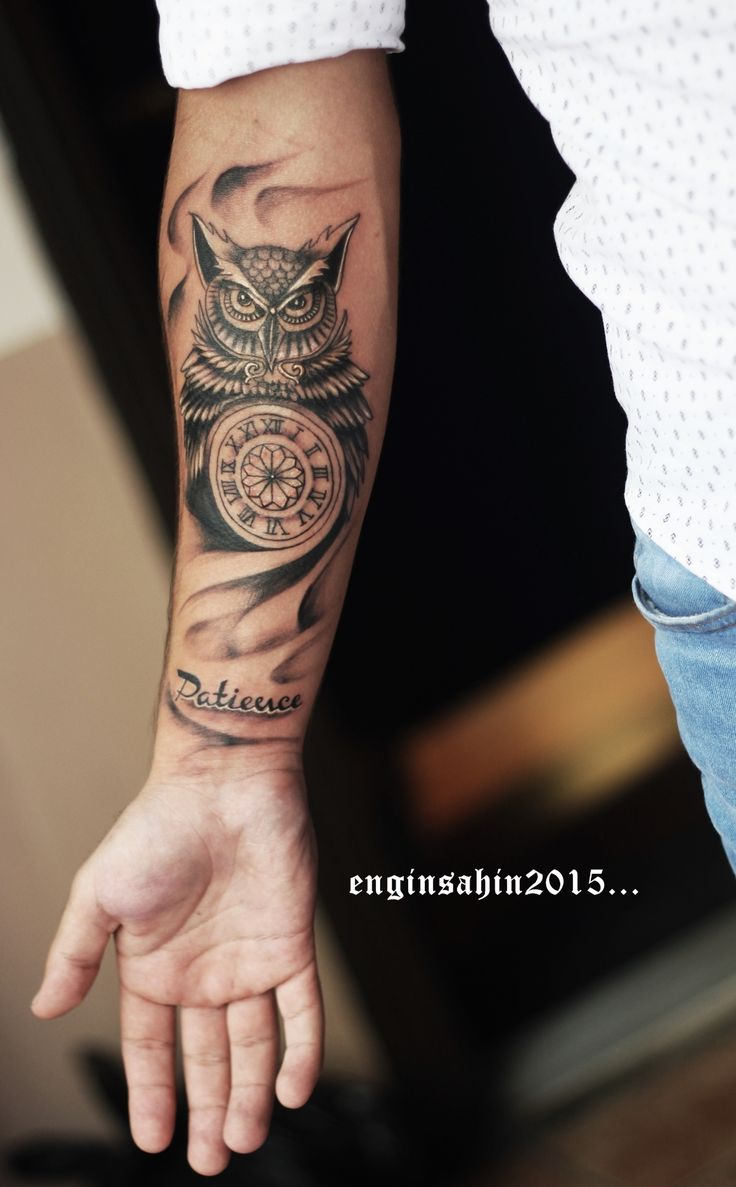 owl tattoo - tattoo - dövme - baykuş dövmesi - engin şahin - taksim - saat dövmesi - kol dövmesi - tattoo artist - dövme sanatçısı