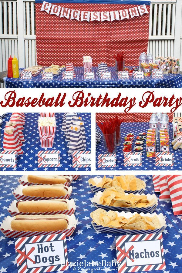 A baseball birthday party perfect for those super fans!