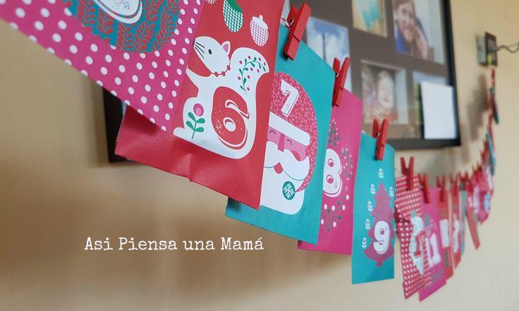 Calendario de adviento para la cuenta atrás de Navidad. Manualidades navideñas en familia. Actividades con niños. Advent christmas diy calendar