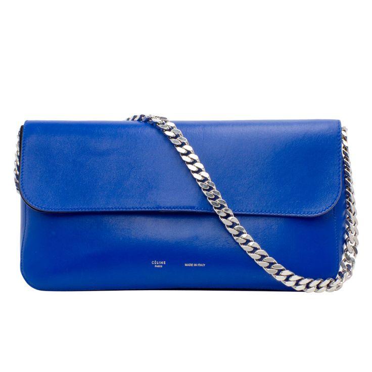 Celine Purple Leather Clutch Bag Celine Black Bag Price