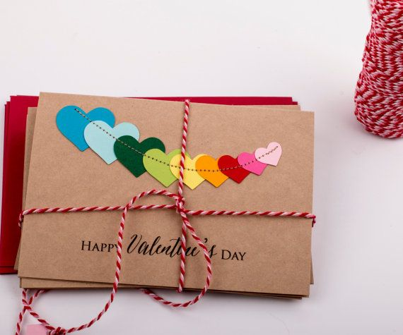 10 Happy Valentines Day Card/ Valentines Day Cards/ by XOXOKristen