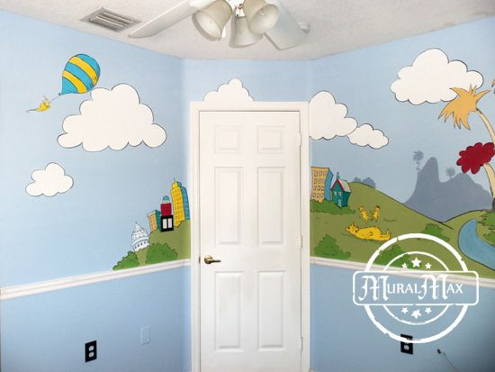 Superb Murals, Dr Seuss Cat In The Hat, And Lorax Nursery Wall Murals Miami Fort Gallery