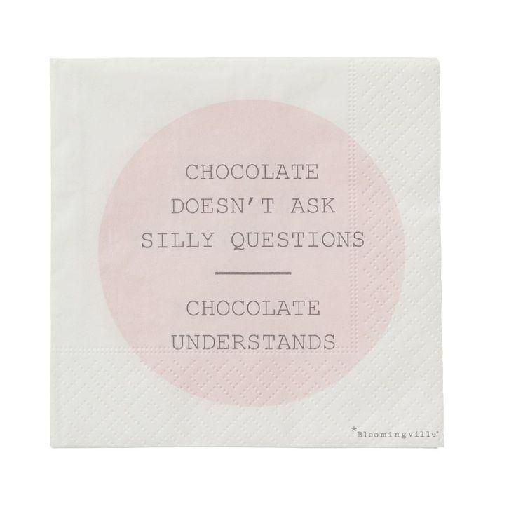 Papírové ubrousky Chocolate | Nordic Day