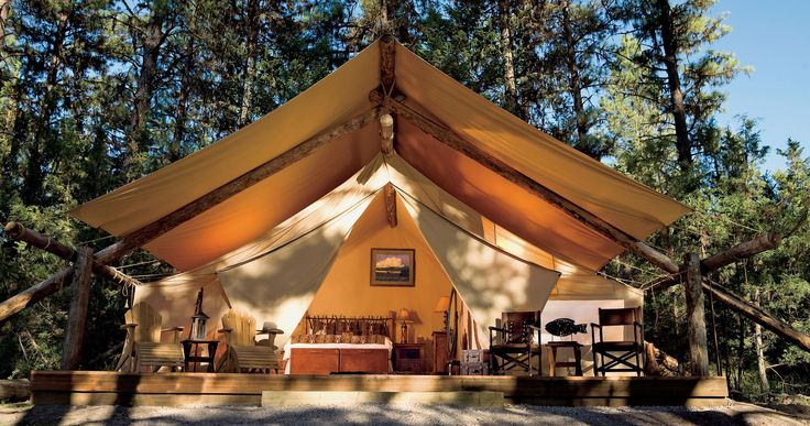 The Resort at Paws Up Greenough, Glacier Country tree outdoor tent temple shinto shrine shrine place of worship pavilion outdoor object wooded