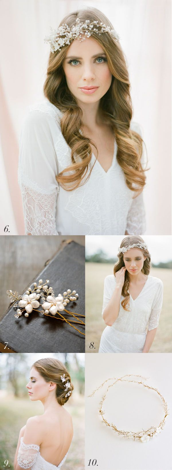 Awe inspiring pinterest the world39s catalog of ideas updo hairstyles - 10 Glorious Rose Gold Bridal Headpieces Percy Handmade