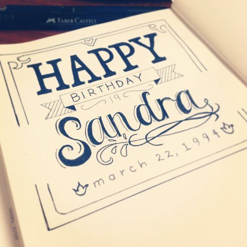 Happy Birthday Lettering Maker ~ Die besten happy birthday hand lettering ideen auf pinterest alles gute zum geburtstag
