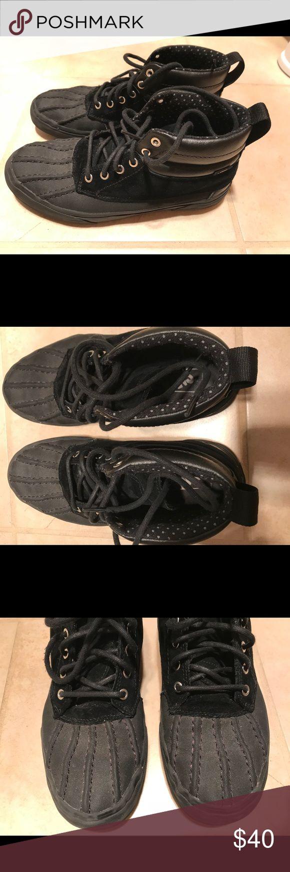 Vans Waterproof Sneaker Boots Ladies 9.5, Men's 8 Vans SCOTCHGARD SK8-HI DEL PATO MTE, unisex, female worn, used but show little wear, super comfy and nice for wider feet :) Vans Shoes Winter & Rain Boots