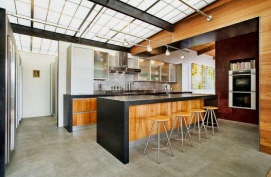 Urban industrial loft style kitchens   kichens   Pinterest