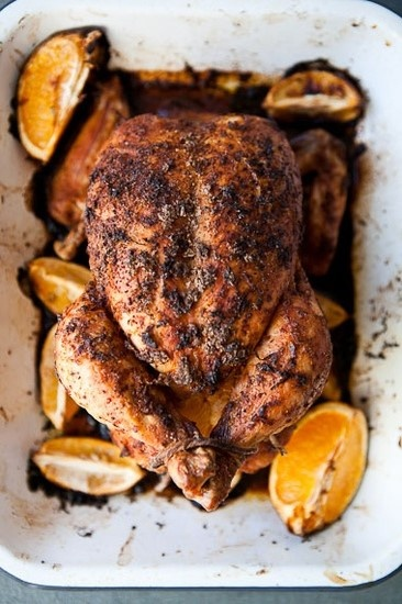Citrus-Roasted Whole Chicken my 1st pinterest recipe, It was WONDERFUL!