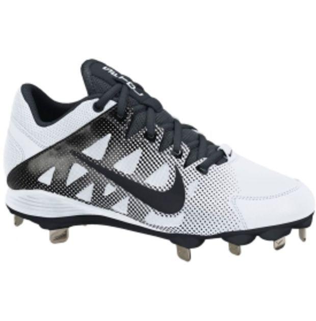 Nike Women's Air Hyperdiamond Strike 2 Metal Fastpitch Cleat - White/Black | DICK'S Sporting Goods