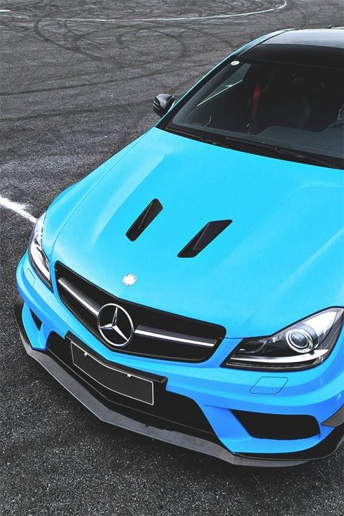 Mercedes C63 AMG | Black Series in blue!  Tuning hood Vents Air Duct AMG c63 style  http://www.ebay.com/itm/282271042059