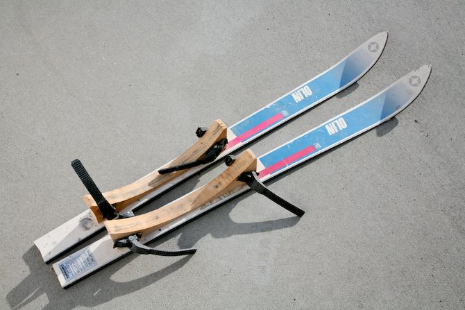 Create your own skies for your bike trailer. Better than the costly conversion kits!