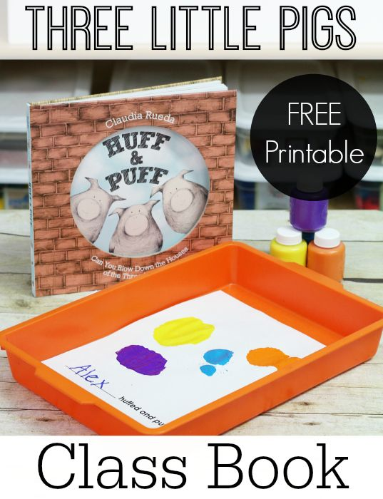 The Three Little Pigs Printable Class Book Activity for Preschool and Kindergarten. Your kids will LOVE painting with straws after reading this unique version of The 3 Pigs.