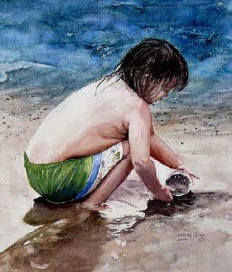 How To Paint Sand | www.drawing-made-easy.com | #paint #drawing #sand