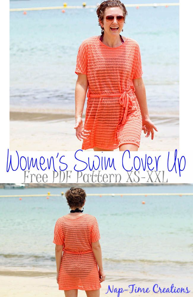 Women's Swim Cover Up by Nap Time Creations