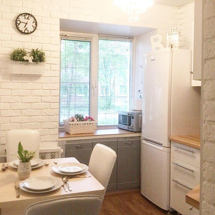 """821 Likes, 17 Comments - ❤ КУХНИ НА ЗАКАЗ в Москве (@alla.chuvinova) on Instagram: """"💁🏼Если размеры вашей кухни небольшие, то это не страшно‼️ Всегда есть варианты, как компактно,…"""""""