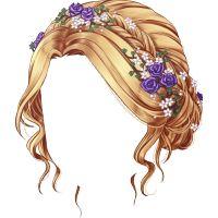 Moño florido rubio