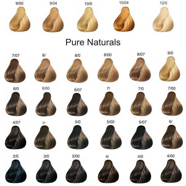 Image Result For Wella Koleston Pure Naturals Color Chart Tintes Naturales Para Cabello Tecnicas De Color Para Cabello Tenido Del Cabello