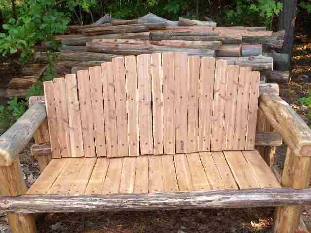 Free Rustic Cedar Bench Plans In A Pdf Format Diy Craft