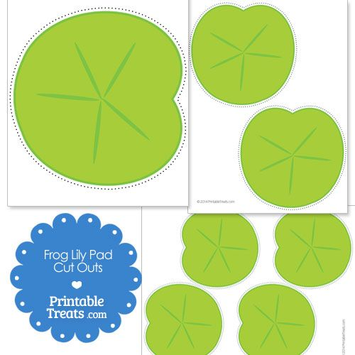 Printable Frog Lily Pad Cut Outs