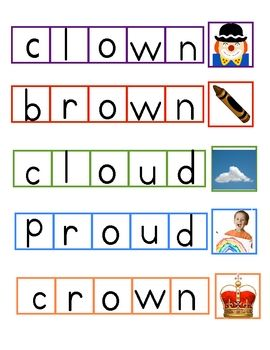17 Best images about ou-ow vowels on Pinterest | Decoding, Word ...