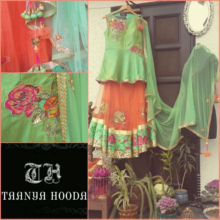 Peplum lehenga by Taanya Hooda pret couture