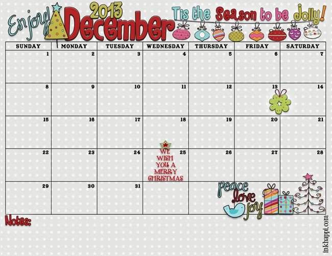 December 2013 Calendar is Here!- Click on the download link below the image! save as!