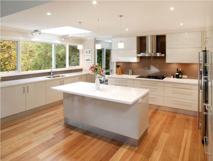 kitchen kitchen mirror modern brightly high polish knows winding panels brown