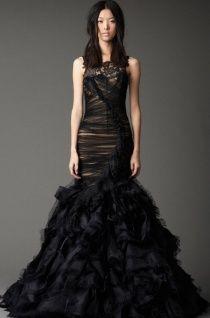 Черные свадебные платья: 81 фото черно-белых платьев 2016 в Москве