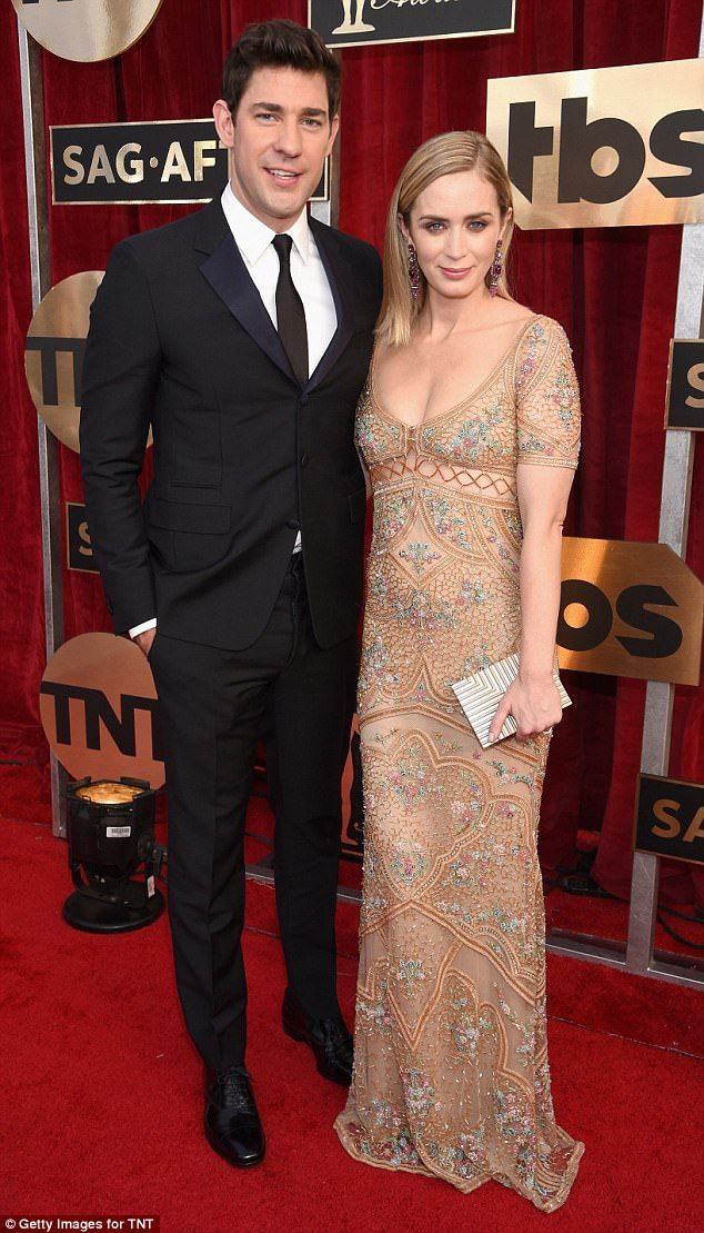 Bold move: Hollywood couple John Krasinski and Emily Blunt, pictured in January, are set t...