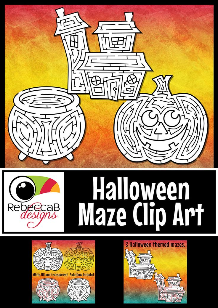 Halloween Maze Clip Art contains 3 different mazes. There is one entrance and one exit with only one solution, solutions included. Only $2.50! http://designedbyteachers.com.au/marketplace/halloween-maze-clip-art-mazes-with-solutions-for-halloween/