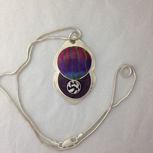 Sterling silver Twister Sisters pendant £37.00