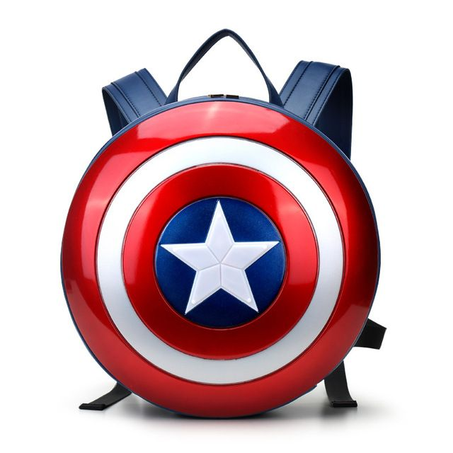 Fashion The Captain America shield backpack Small bule Backpacks Special personality Women Bags American film Character bag  -- Click image for more details. #Backpacks