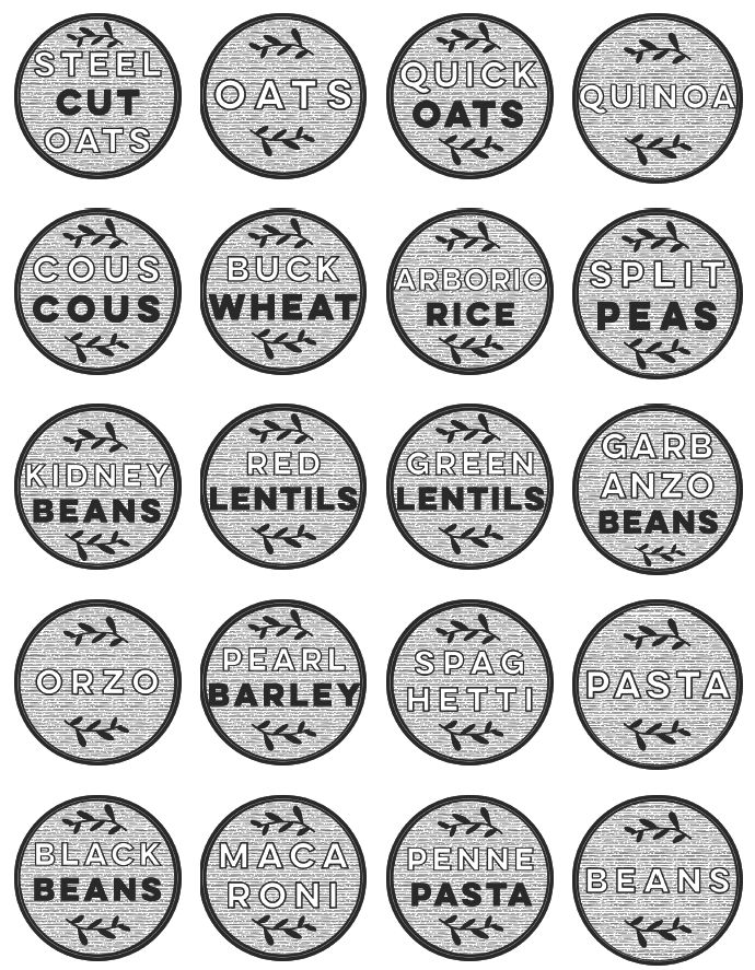 These modern black and white pantry labels, designed by @colleenpastoor at lemonthistle.com are the perfect way to jazz up a standard pantry. At 2\\