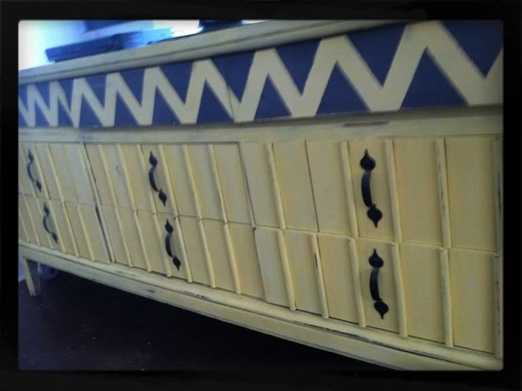 use an old dresser for a TV console