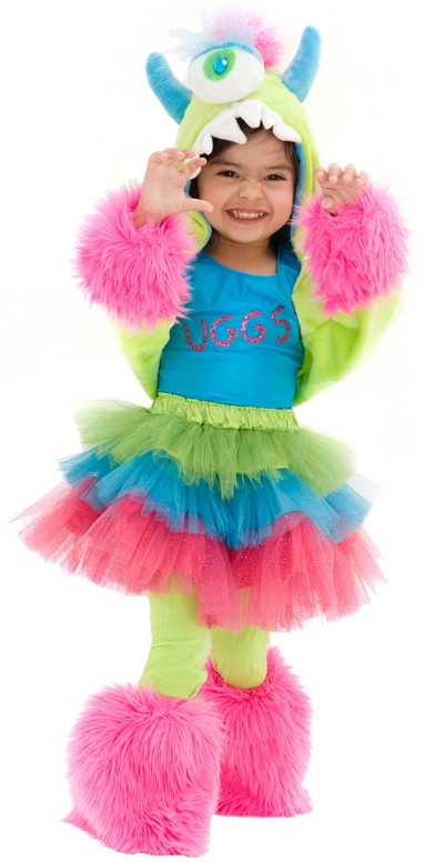 girls monster costume uggsy 6999 - Baby Monster Halloween Costumes