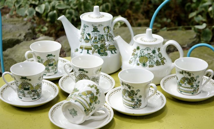 Figgjo Flint Turi Design, Made in Norway Tea Set   by thriftynancy4499