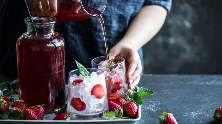 Lemon Myrtle & Strawberry Iced Tea