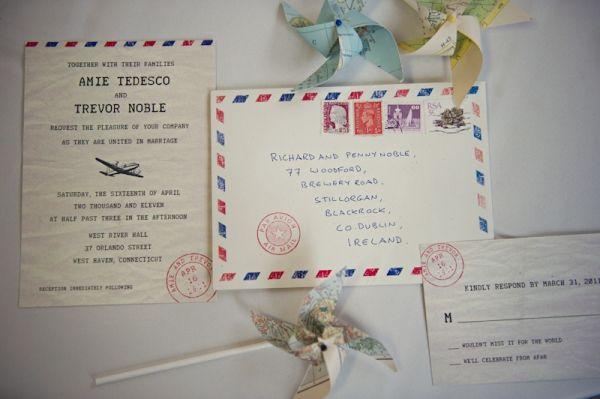 Travel Themed Wedding Details