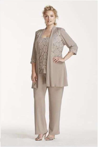 Fashion pant suits for mother of the bride wedding party for Dress pant outfits for wedding