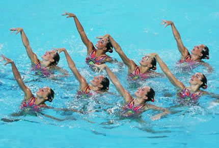 Synchronized swimming. Love it! Fun way to move and feel good!