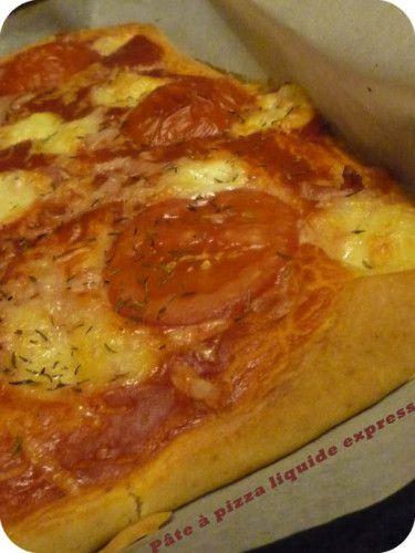Hein ? Quoi ? Et oui, vous avez bien lu !! je vous propose aujourd'hui une recette express et bluffante : une recette de p�te � pizza liquide ! Ultra facile, ultra rapide, ultra moelleuse et surtout ultra bonne !!! Laissez aller votre imagination et variez...
