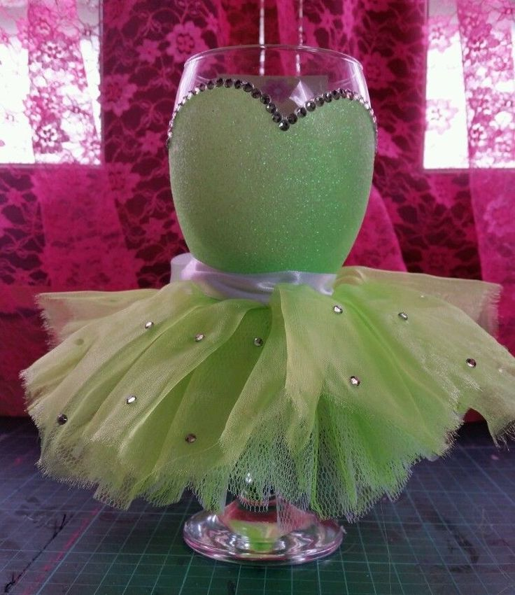 Glittered tutu wine glasses | eBay