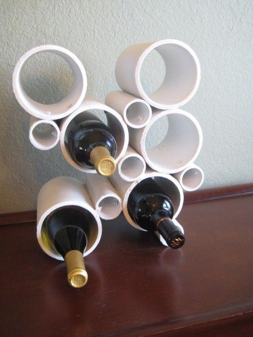 DIY Wine bottle holder from PVC pipe - I love!