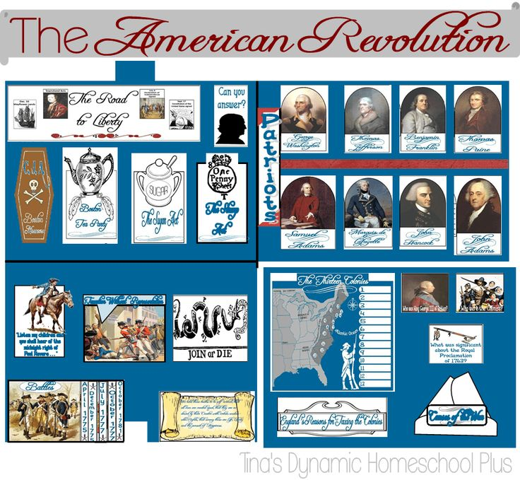 Free American Revolution Lapbook and Unit Study |  Tina's Dynamic Homeschool Plus