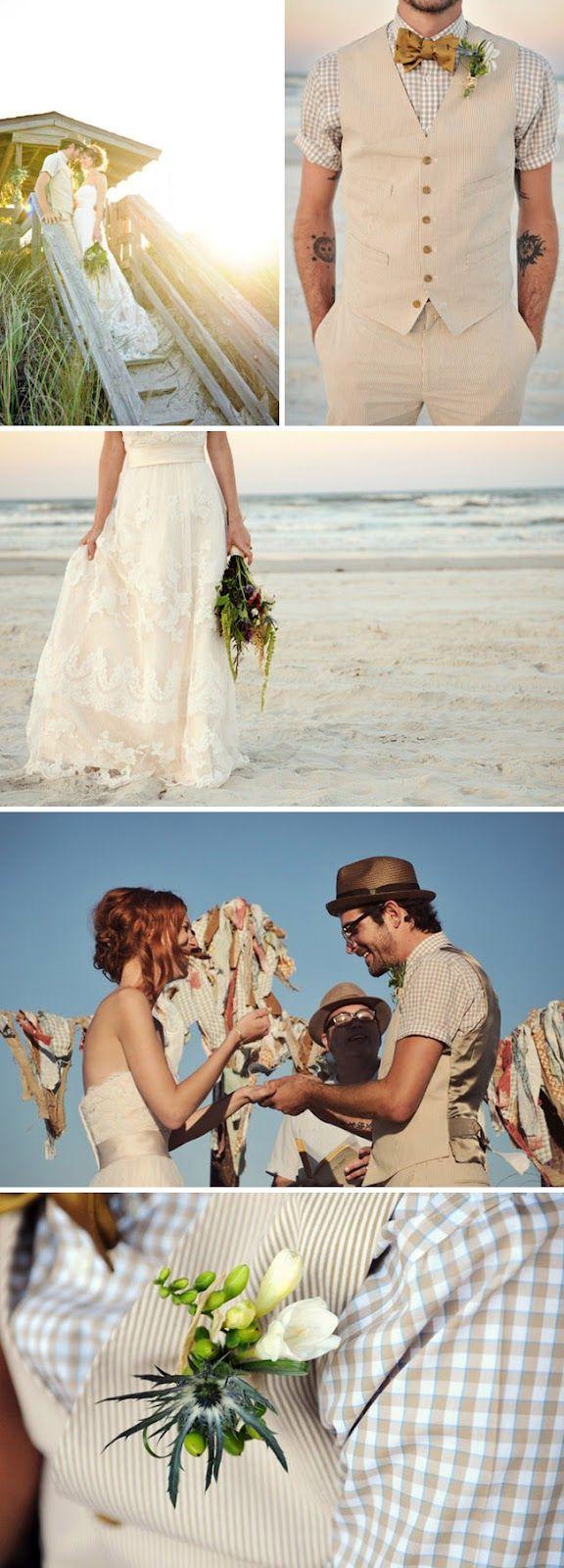 {Una boda informal en una playa de Florida} - {Love Notes} Las Notas de amor de Vintage & Chic