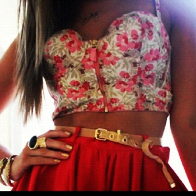 : Floral Tops, Summer Outfit, Crop Tops, Skirts, Corsets, Summer Style, Clothing, Croptop, Bustiers