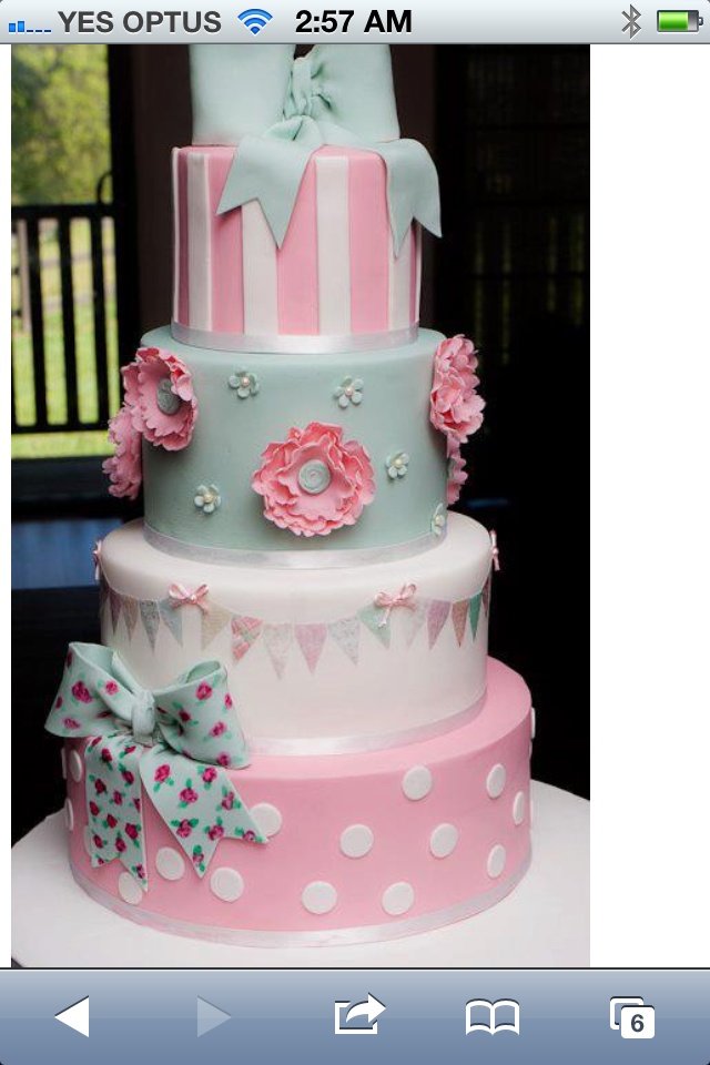 Gorgeous pastel bunting cake - perfect for a baby shower!